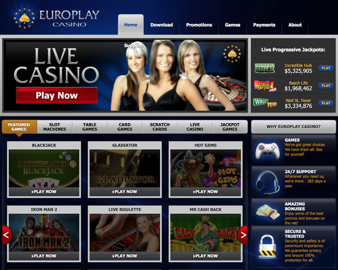 Europlay Casino Mobile