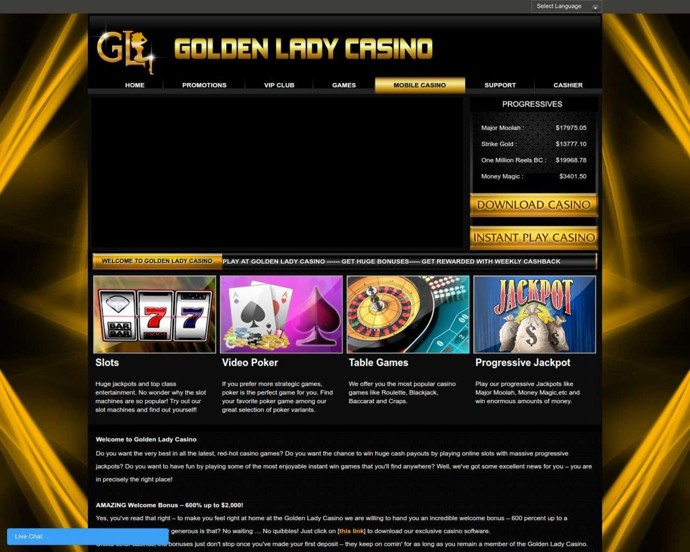 Golden Lady Casino