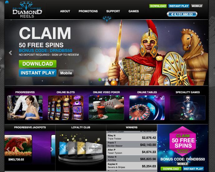 Diamond Reels Casino - nodeposit org
