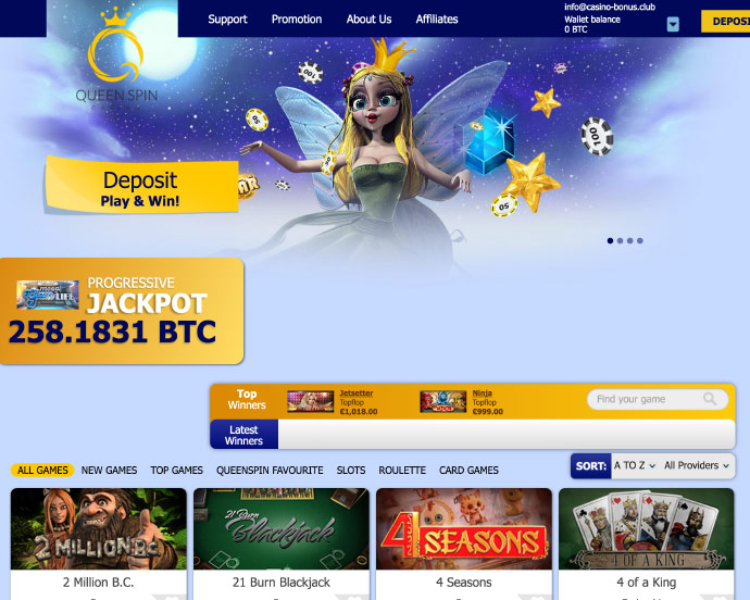 Queen spin casino bitcoin casino dice