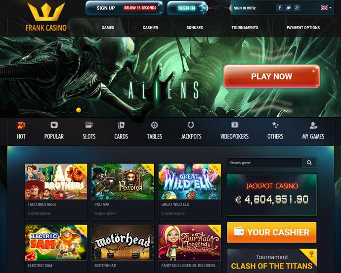 frank casino online top