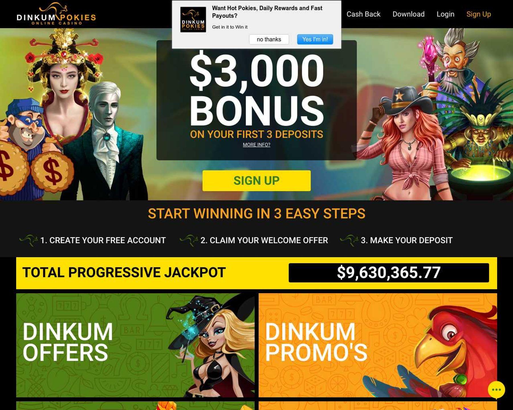 Dinkum Pokies Casino