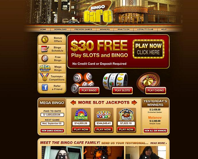 Bingo Cafe My Account